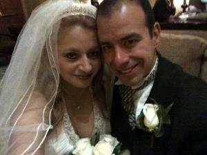 Blanca y Carlos el día de su boda.