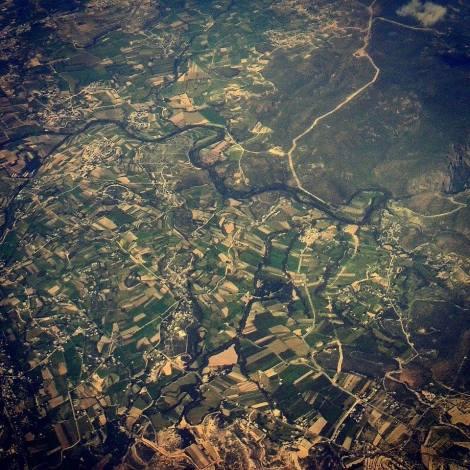 Vista aérea. Alguna parte en el Centro de México.