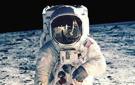 Sin Aldrin esta famosa foto de Armstrong no se hubiera tomado.