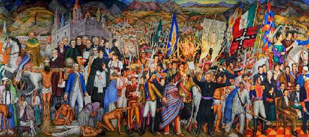 Retablo de Independencia, de Juan O´Gorman. Castillo de Chapultepec.